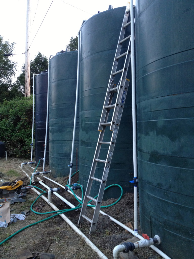 My wall of water tanks.